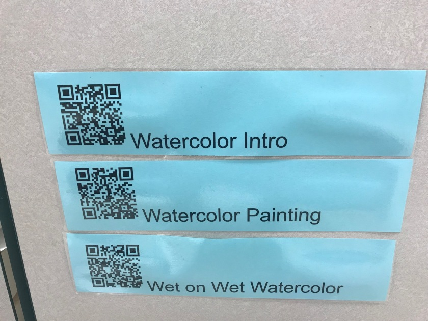 QR Codes for watercolor technique