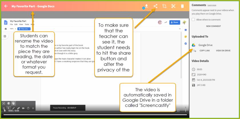 Screencastify Screen