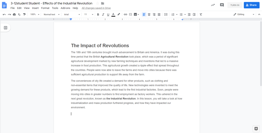 It was easy to just create a Doc and paste in whatever content I found online!